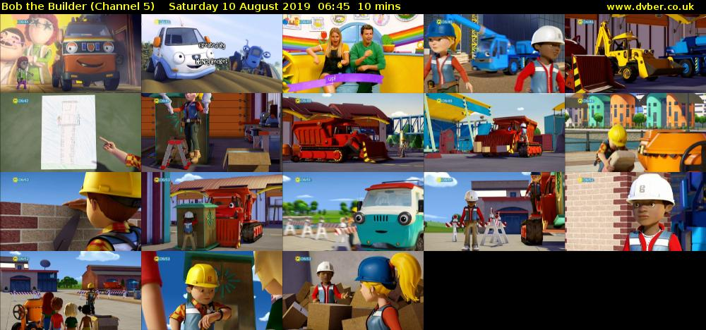 Bob the Builder (Channel 5) Saturday 10 August 2019 06:45 - 06:55