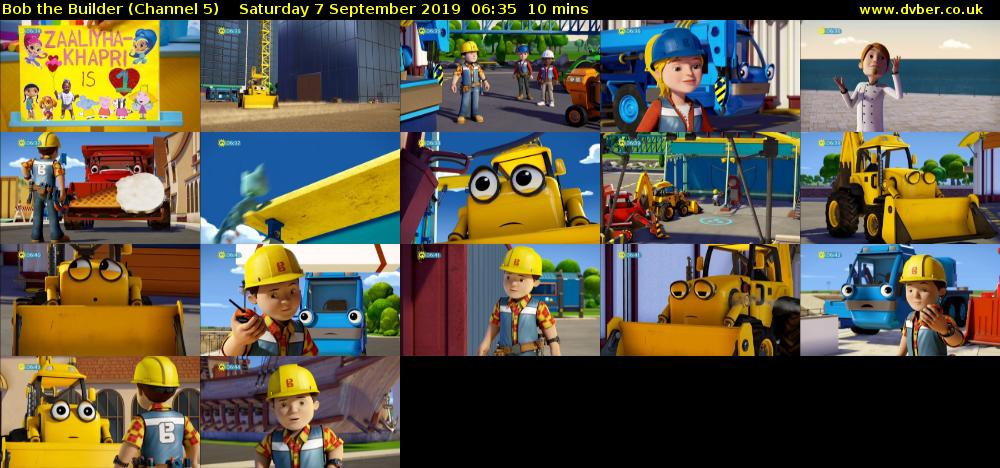 Bob the Builder (Channel 5) Saturday 7 September 2019 06:35 - 06:45