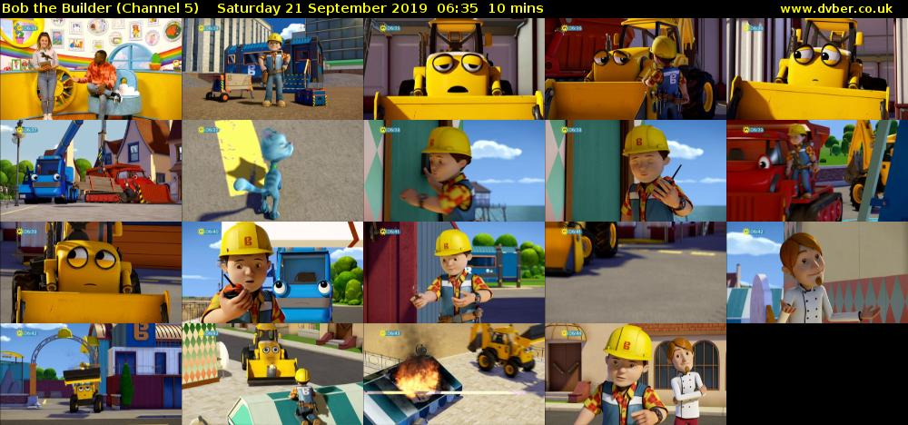 Bob the Builder (Channel 5) Saturday 21 September 2019 06:35 - 06:45