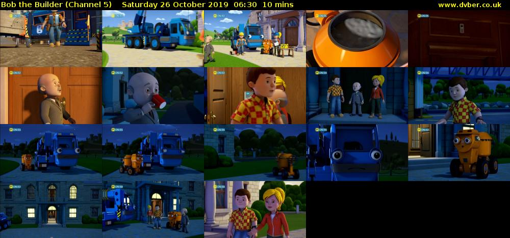 Bob the Builder (Channel 5) Saturday 26 October 2019 06:30 - 06:40