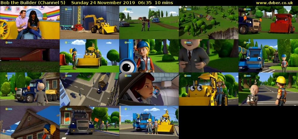 Bob the Builder (Channel 5) Sunday 24 November 2019 06:35 - 06:45