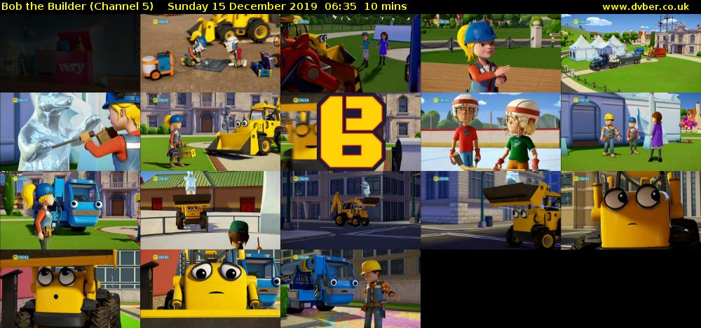 Bob the Builder (Channel 5) Sunday 15 December 2019 06:35 - 06:45