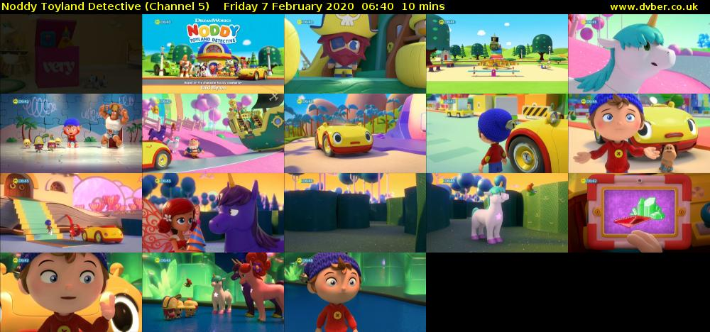 Noddy Toyland Detective (Channel 5) Friday 7 February 2020 06:40 - 06:50
