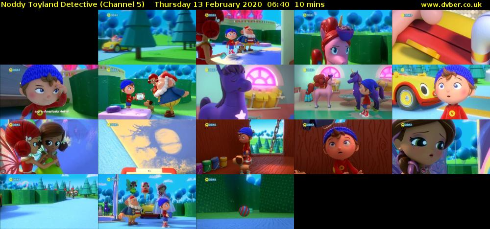 Noddy Toyland Detective (Channel 5) Thursday 13 February 2020 06:40 - 06:50