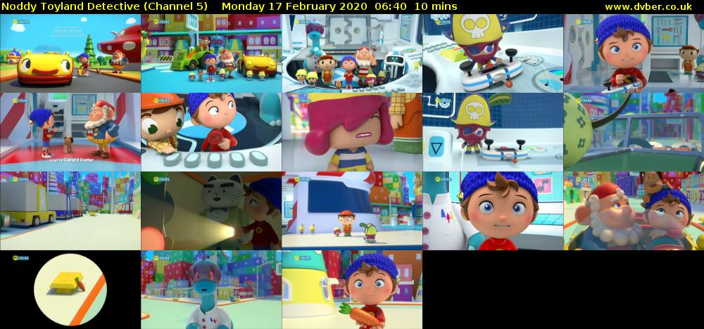 Noddy Toyland Detective (Channel 5) Monday 17 February 2020 06:40 - 06:50