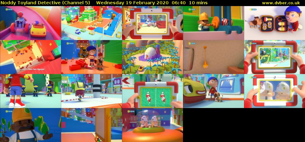 Noddy Toyland Detective (Channel 5) Wednesday 19 February 2020 06:40 - 06:50