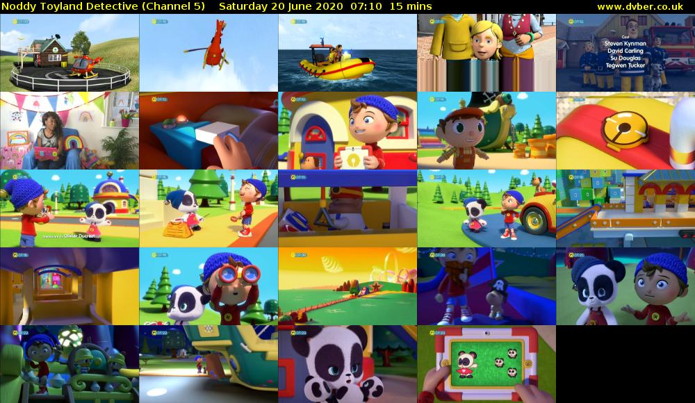 Noddy Toyland Detective (Channel 5) Saturday 20 June 2020 07:10 - 07:25