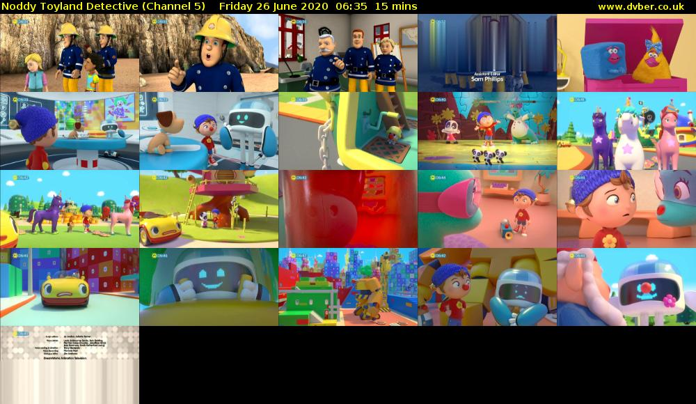 Noddy Toyland Detective (Channel 5) Friday 26 June 2020 06:35 - 06:50