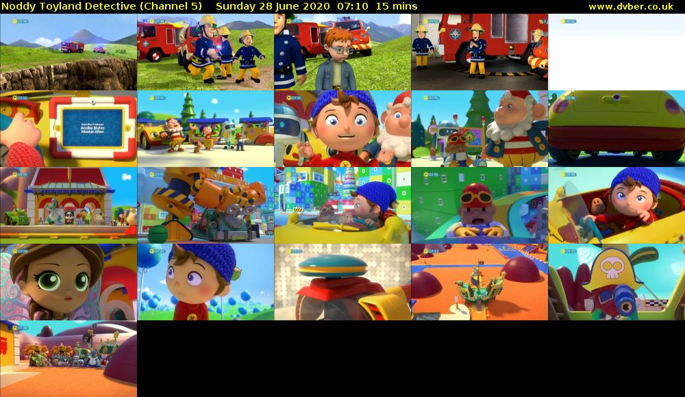 Noddy Toyland Detective (Channel 5) Sunday 28 June 2020 07:10 - 07:25