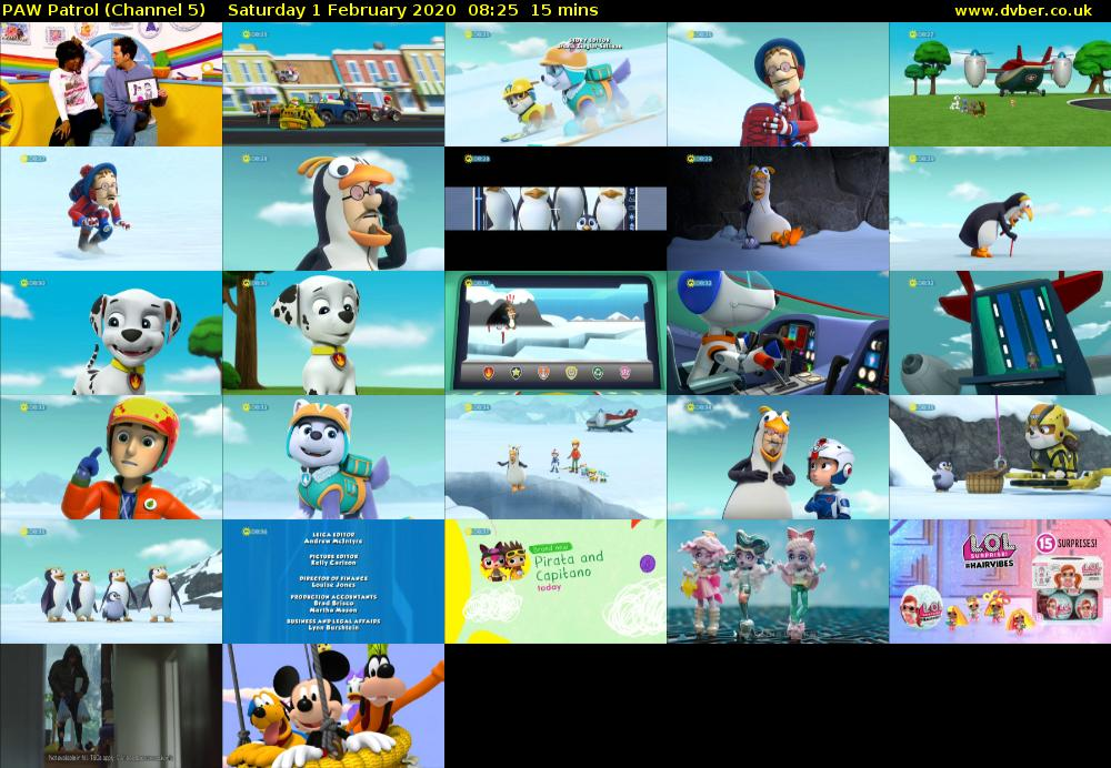PAW Patrol (Channel 5) Saturday 1 February 2020 08:25 - 08:40