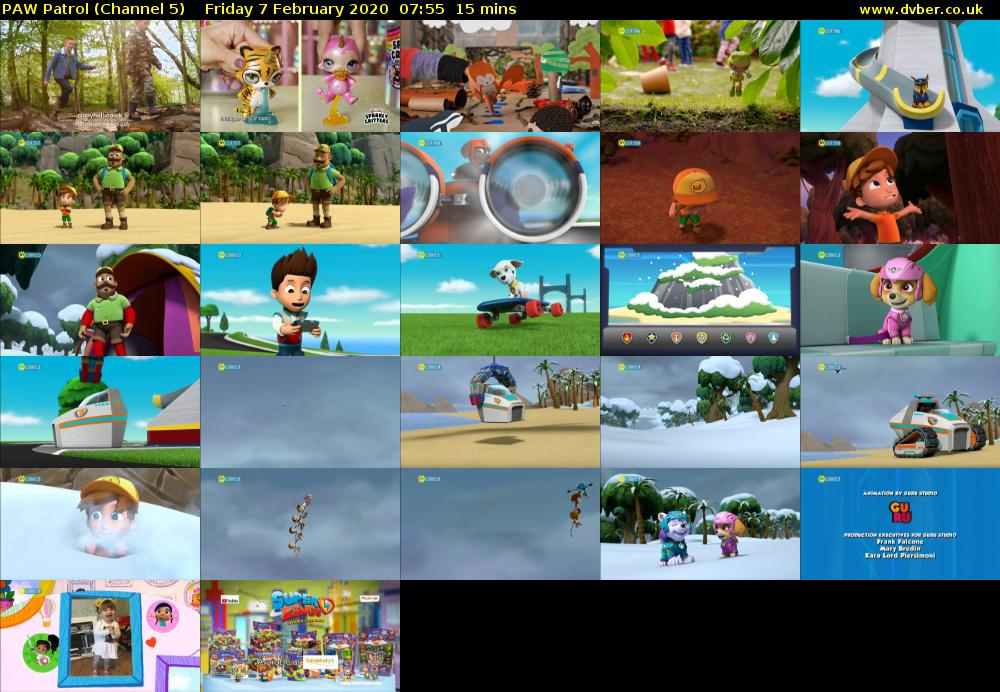 PAW Patrol (Channel 5) Friday 7 February 2020 07:55 - 08:10