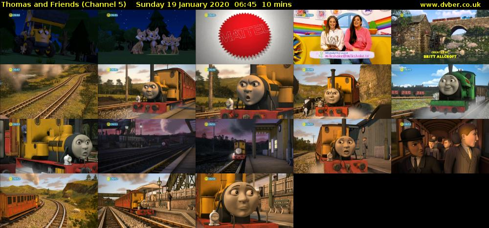 Thomas and Friends (Channel 5) Sunday 19 January 2020 06:45 - 06:55