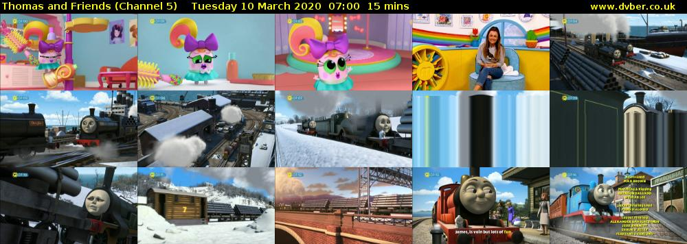 Thomas and Friends (Channel 5) Tuesday 10 March 2020 07:00 - 07:15