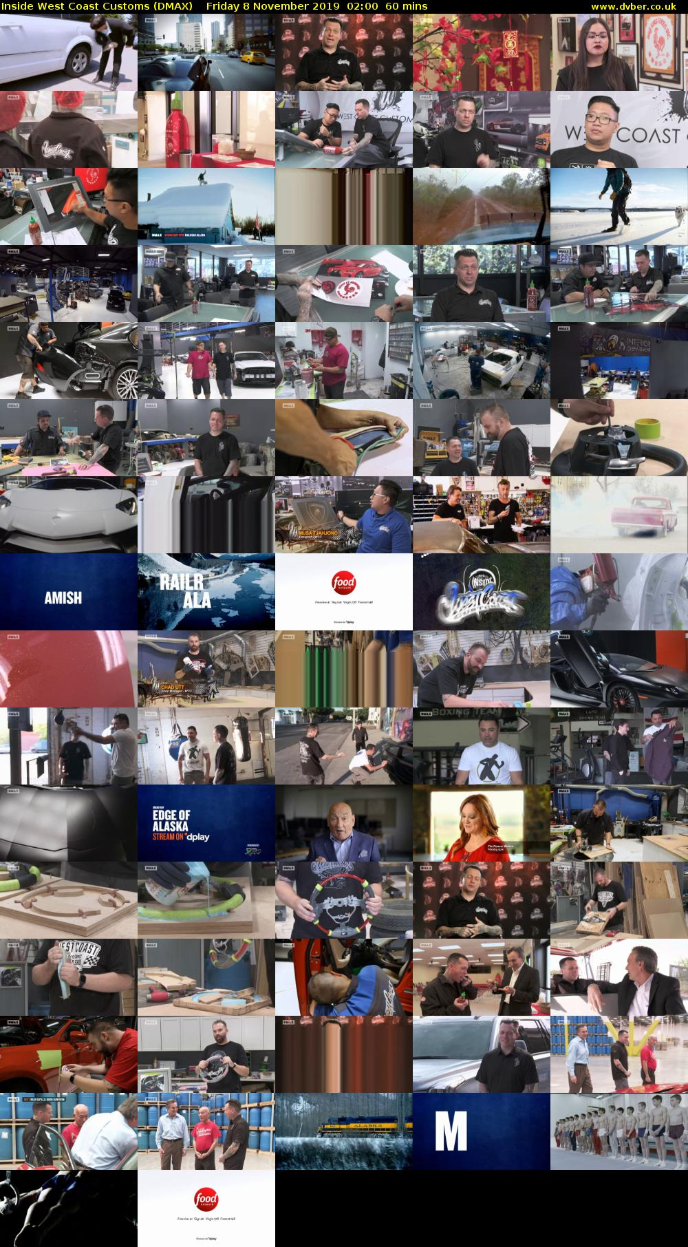 Inside West Coast Customs (DMAX) Friday 8 November 2019 02:00 - 03:00