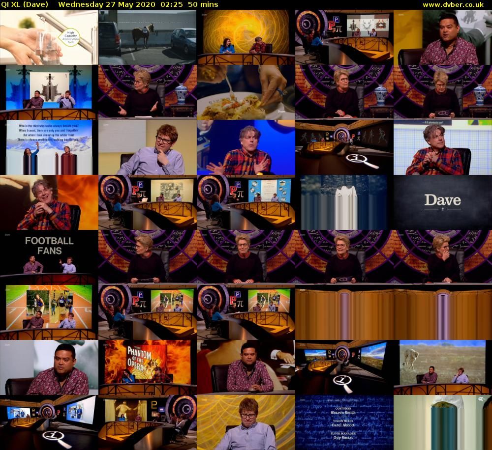 QI XL (Dave) Wednesday 27 May 2020 02:25 - 03:15