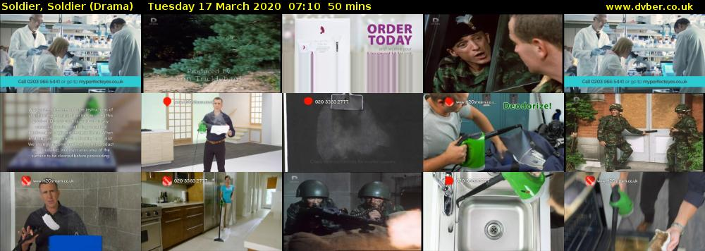 Soldier, Soldier (Drama) Tuesday 17 March 2020 07:10 - 08:00