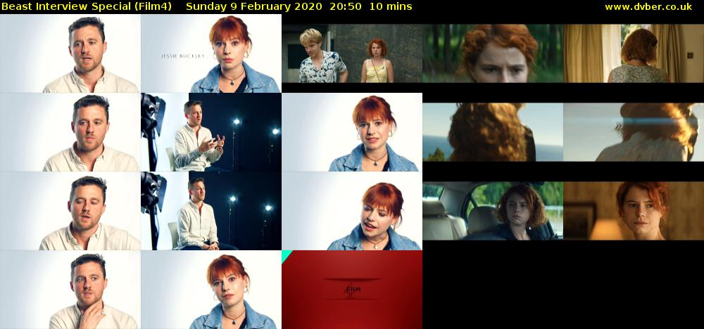 Beast Interview Special (Film4) Sunday 9 February 2020 20:50 - 21:00