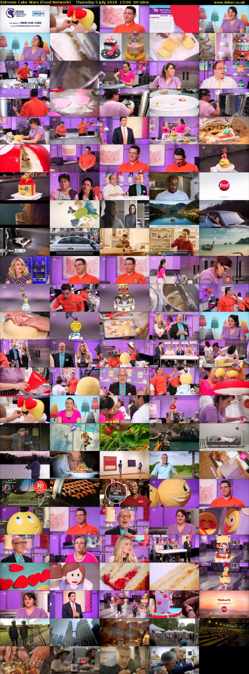 Extreme Cake Wars (Food Network) Thursday 5 July 2018 17:00 - 18:00
