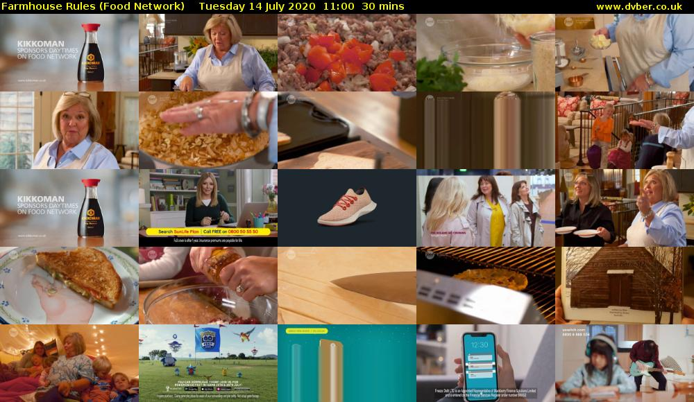 Farmhouse Rules (Food Network) Tuesday 14 July 2020 11:00 - 11:30