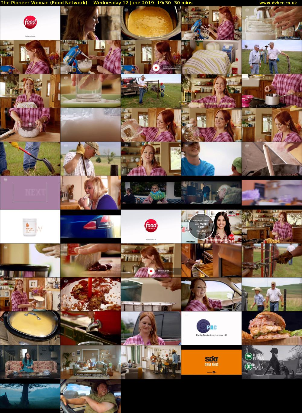 The Pioneer Woman (Food Network) Wednesday 12 June 2019 19:30 - 20:00
