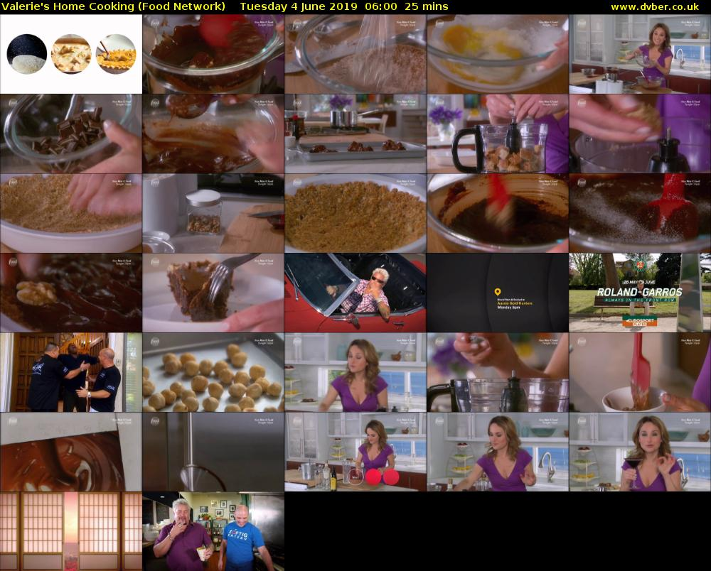 Valerie's Home Cooking (Food Network) Tuesday 4 June 2019 06:00 - 06:25