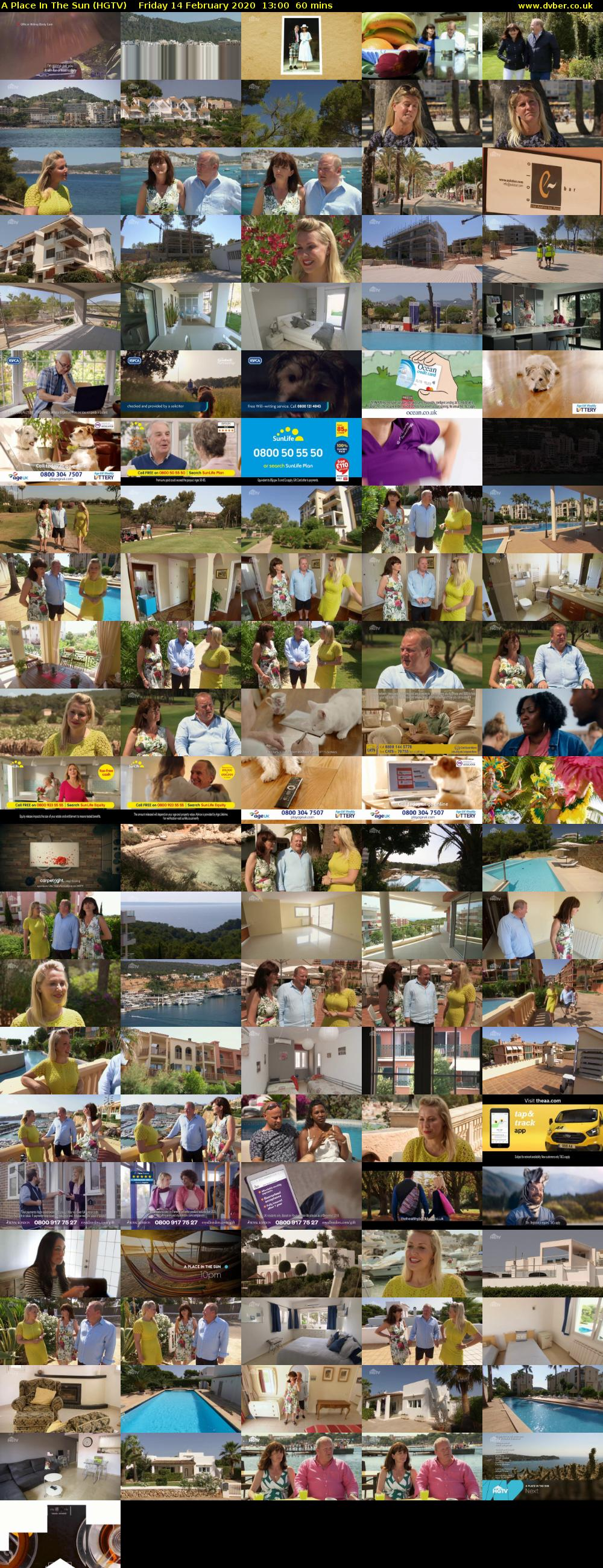 A Place In The Sun (HGTV) Friday 14 February 2020 13:00 - 14:00