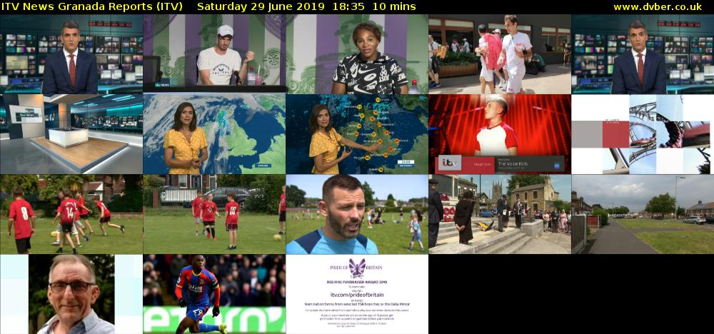 ITV News Granada Reports (ITV) Saturday 29 June 2019 18:35 - 18:45