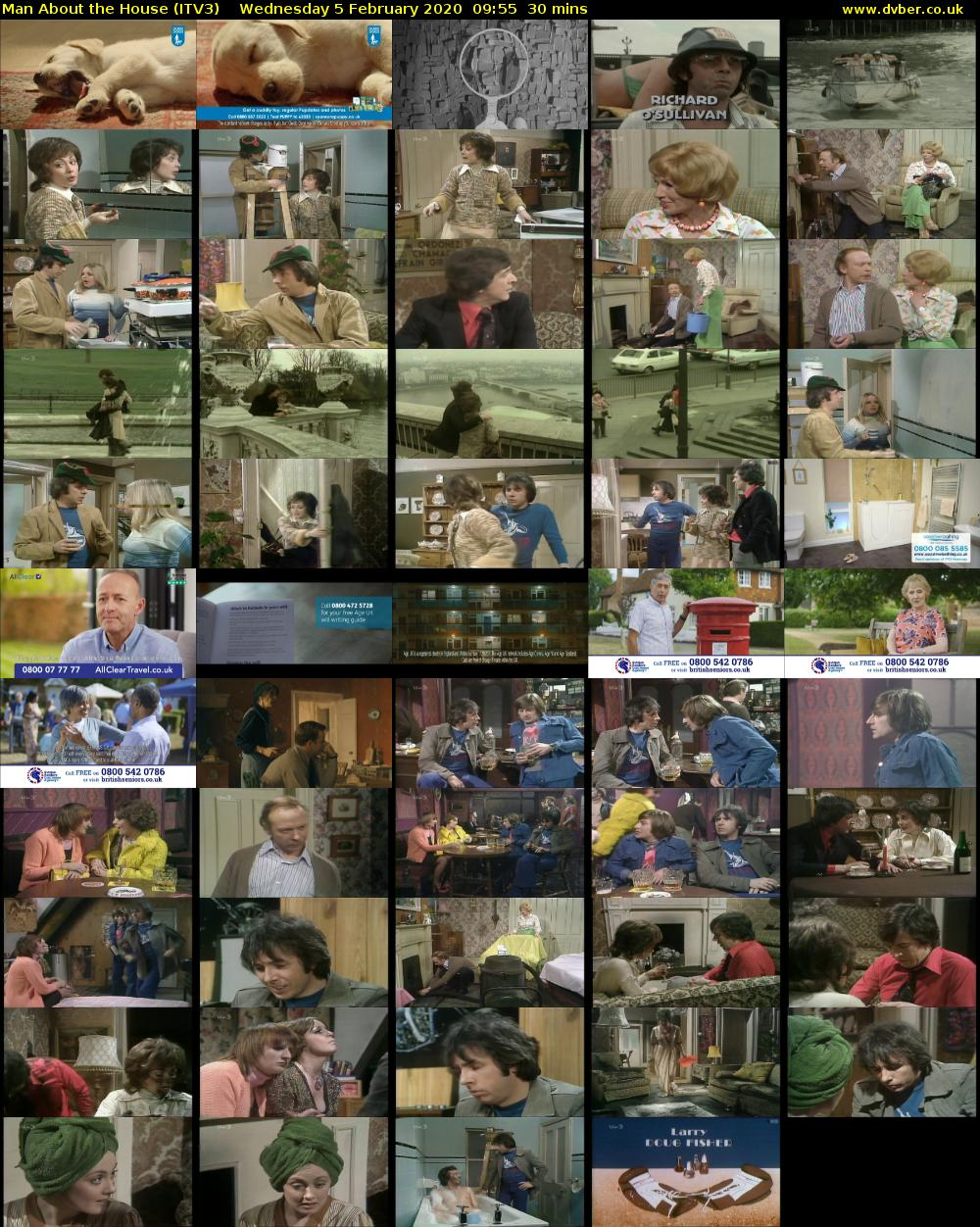 Man About the House (ITV3) Wednesday 5 February 2020 09:55 - 10:25