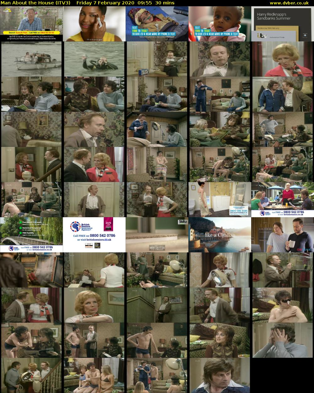 Man About the House (ITV3) Friday 7 February 2020 09:55 - 10:25