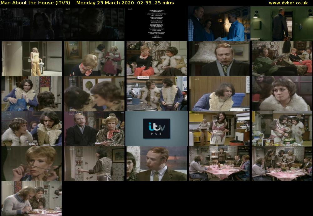 Man About the House (ITV3) Monday 23 March 2020 02:35 - 03:00