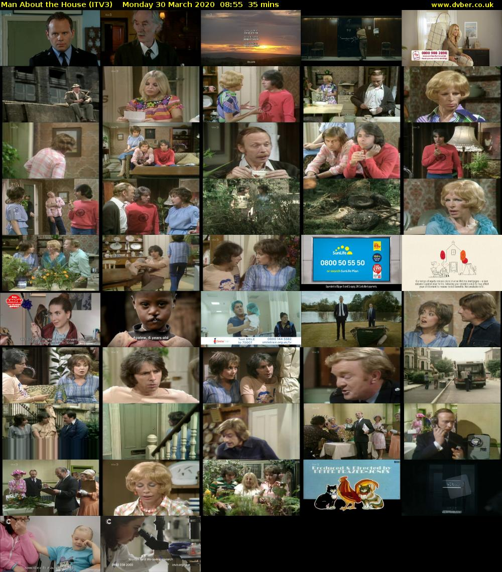 Man About the House (ITV3) Monday 30 March 2020 08:55 - 09:30