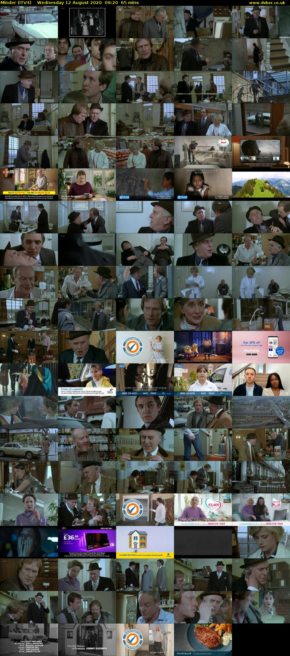 Minder (ITV4) Wednesday 12 August 2020 09:20 - 10:25