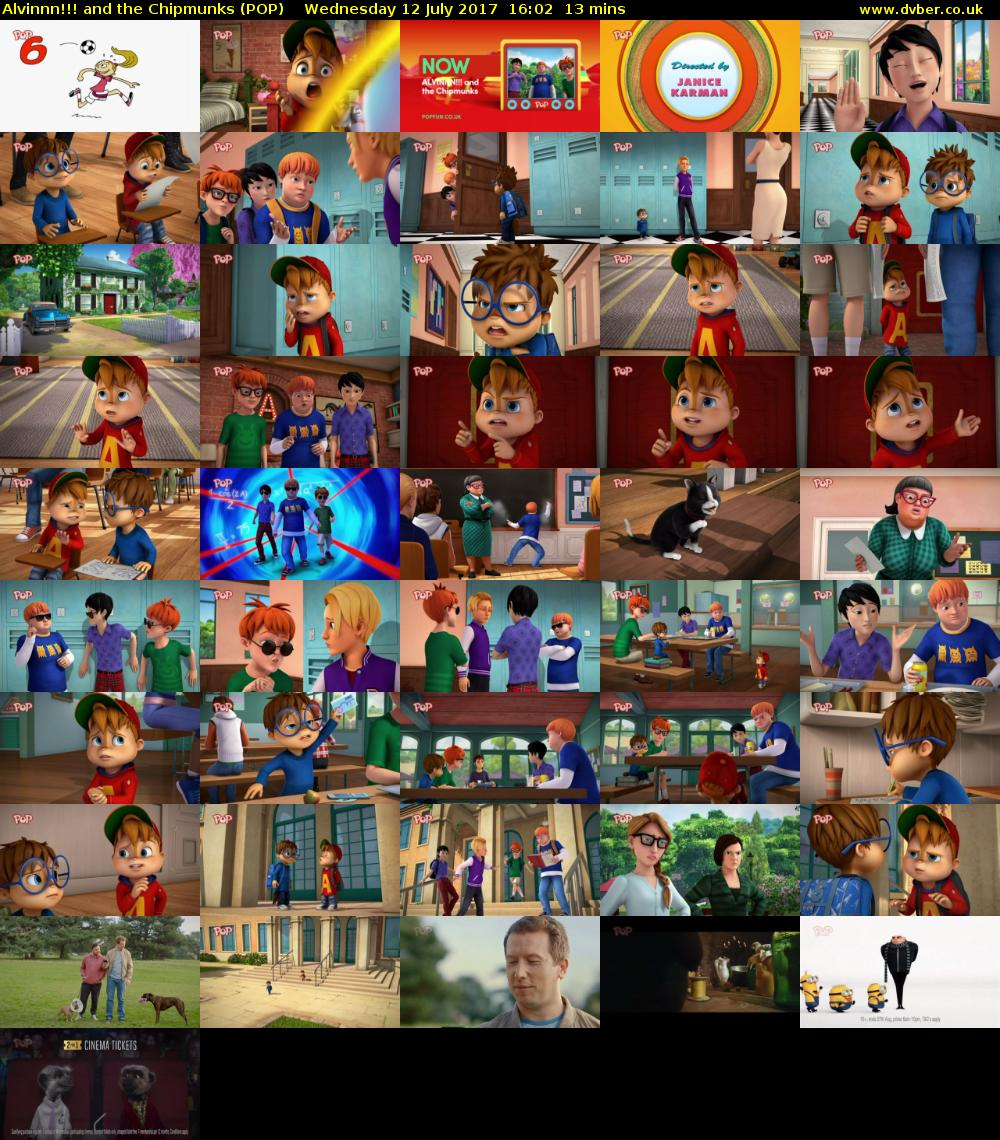 Alvinnn!!! and the Chipmunks (POP) Wednesday 12 July 2017 16:02 - 16:15