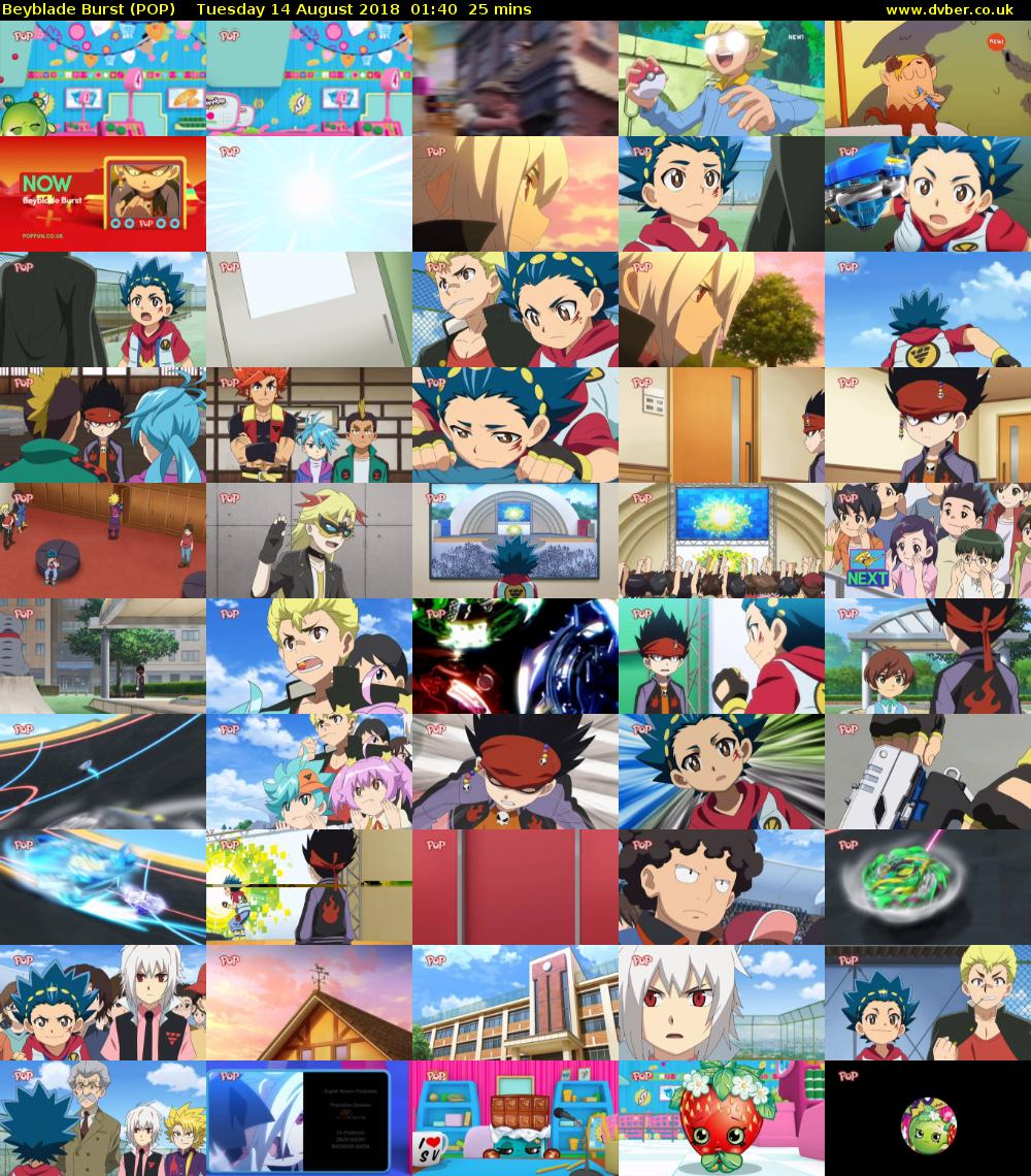 Beyblade Burst (POP) Tuesday 14 August 2018 01:40 - 02:05