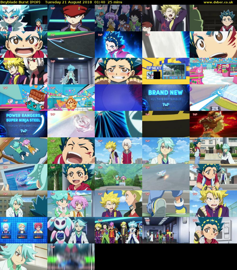 Beyblade Burst (POP) Tuesday 21 August 2018 01:40 - 02:05