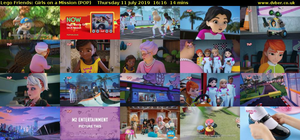 Lego Friends: Girls on a Mission (POP) Thursday 11 July 2019 16:16 - 16:30