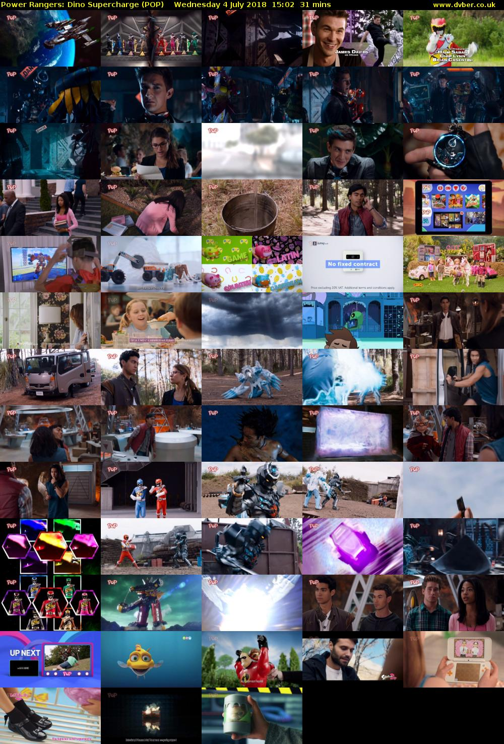 Power Rangers: Dino Supercharge (POP) Wednesday 4 July 2018 15:02 - 15:33