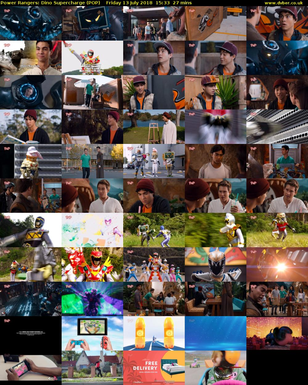 Power Rangers: Dino Supercharge (POP) Friday 13 July 2018 15:33 - 16:00