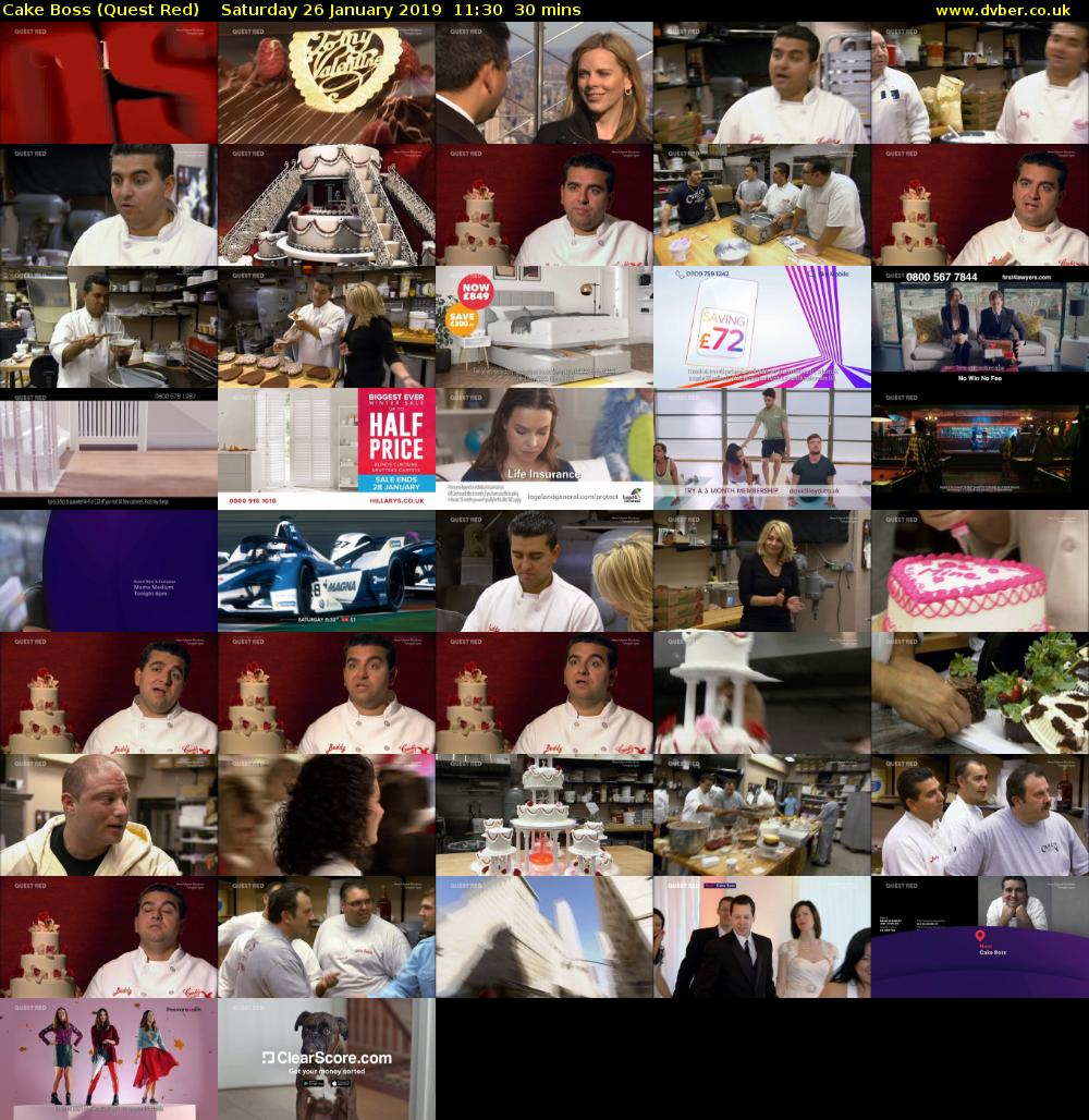 Cake Boss (Quest Red) Saturday 26 January 2019 11:30 - 12:00