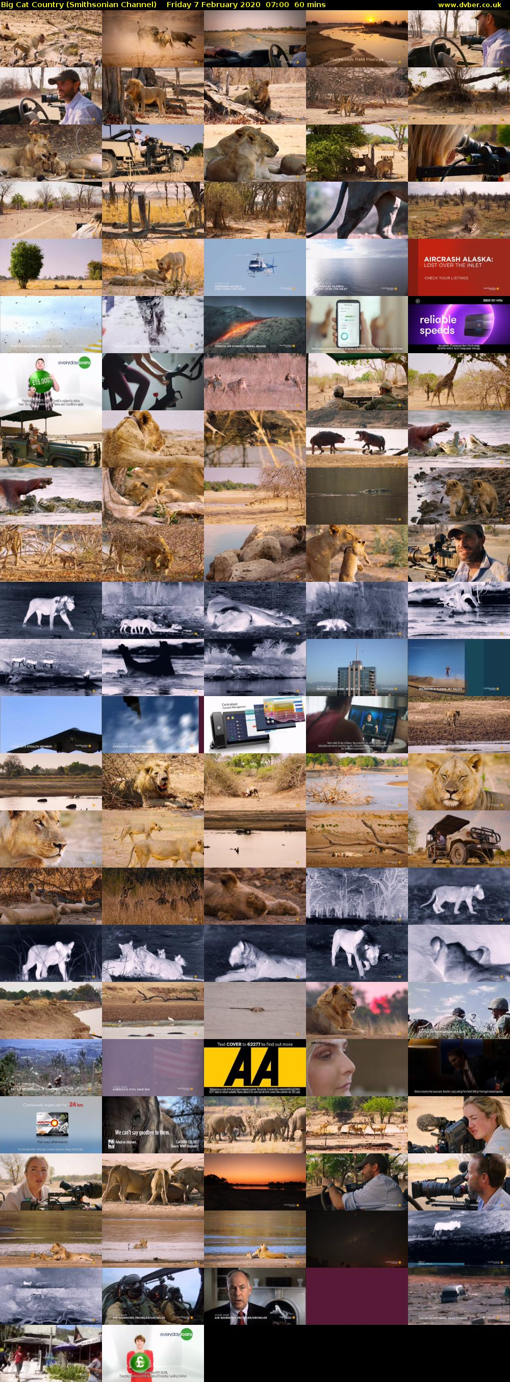 Big Cat Country (Smithsonian Channel) Friday 7 February 2020 07:00 - 08:00