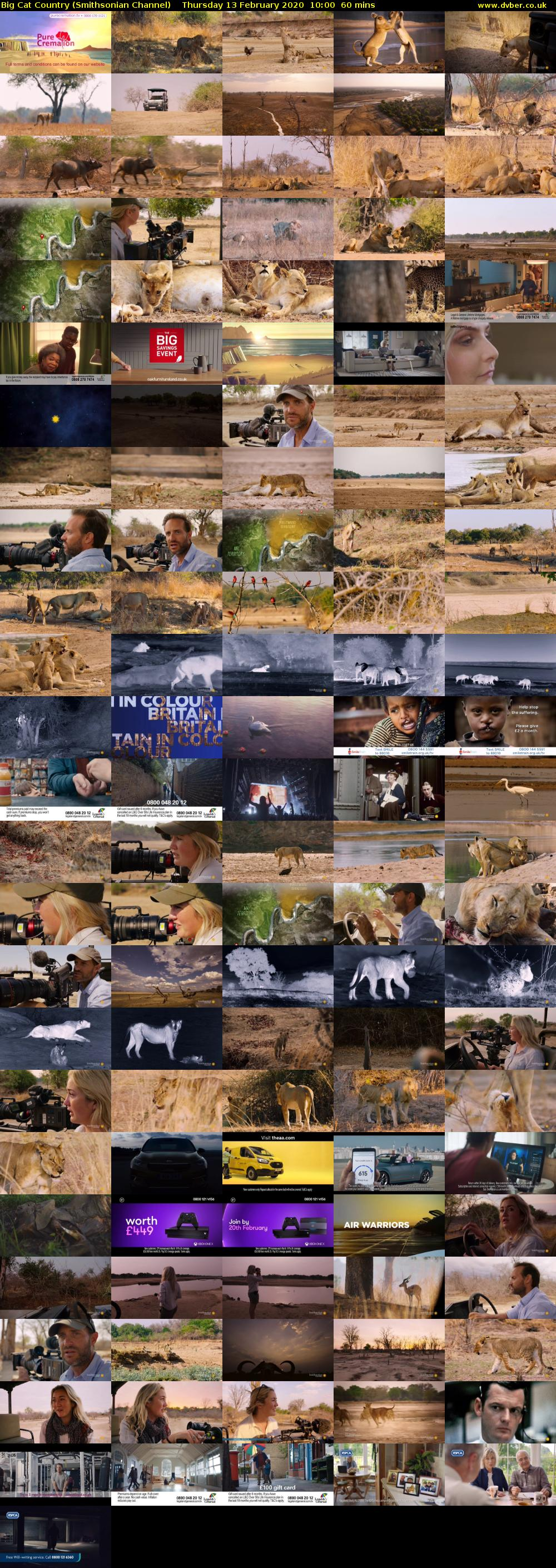 Big Cat Country (Smithsonian Channel) Thursday 13 February 2020 10:00 - 11:00