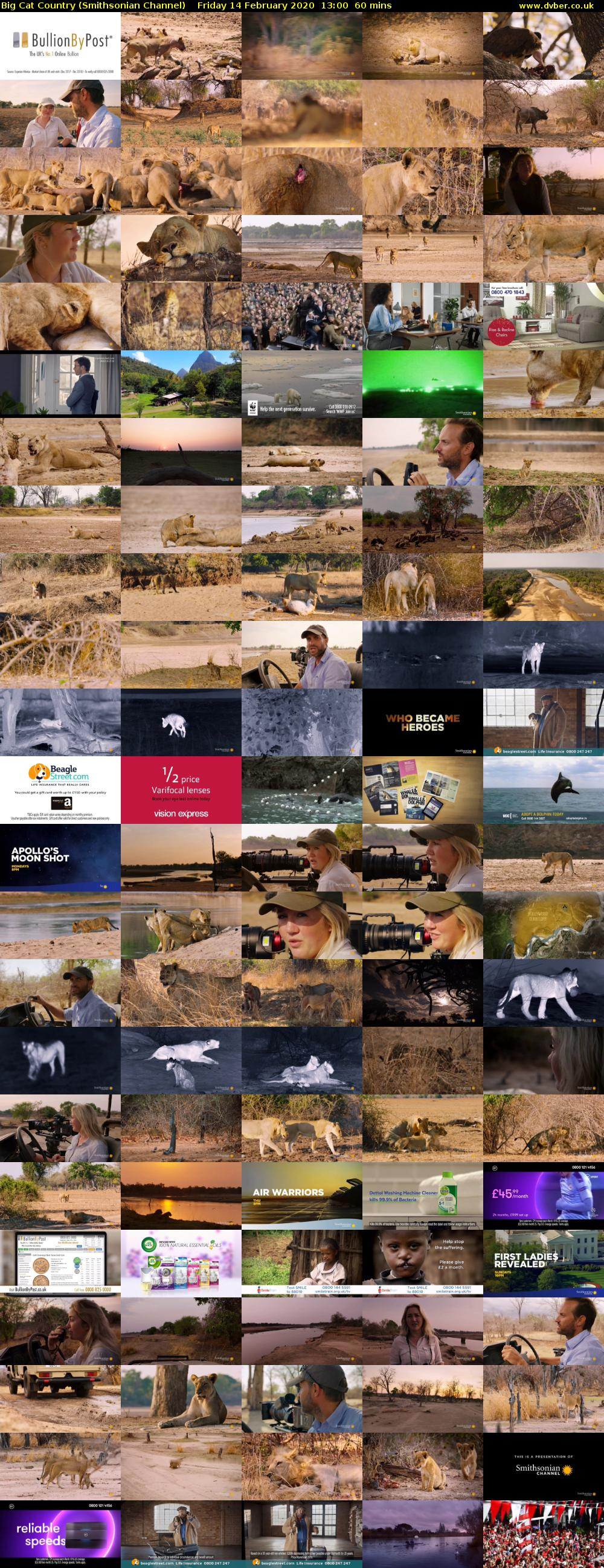 Big Cat Country (Smithsonian Channel) Friday 14 February 2020 13:00 - 14:00