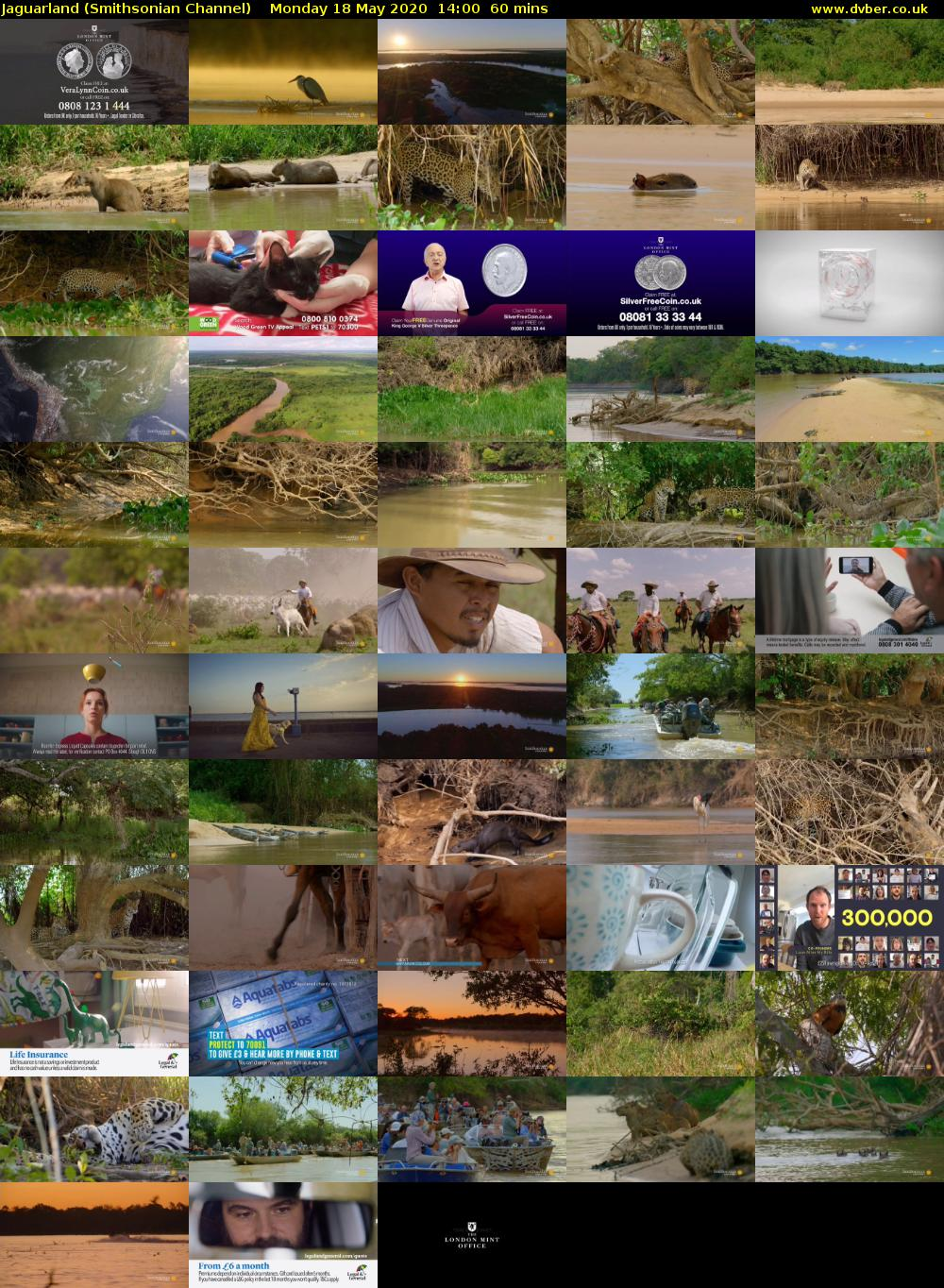 Jaguarland (Smithsonian Channel) Monday 18 May 2020 14:00 - 15:00