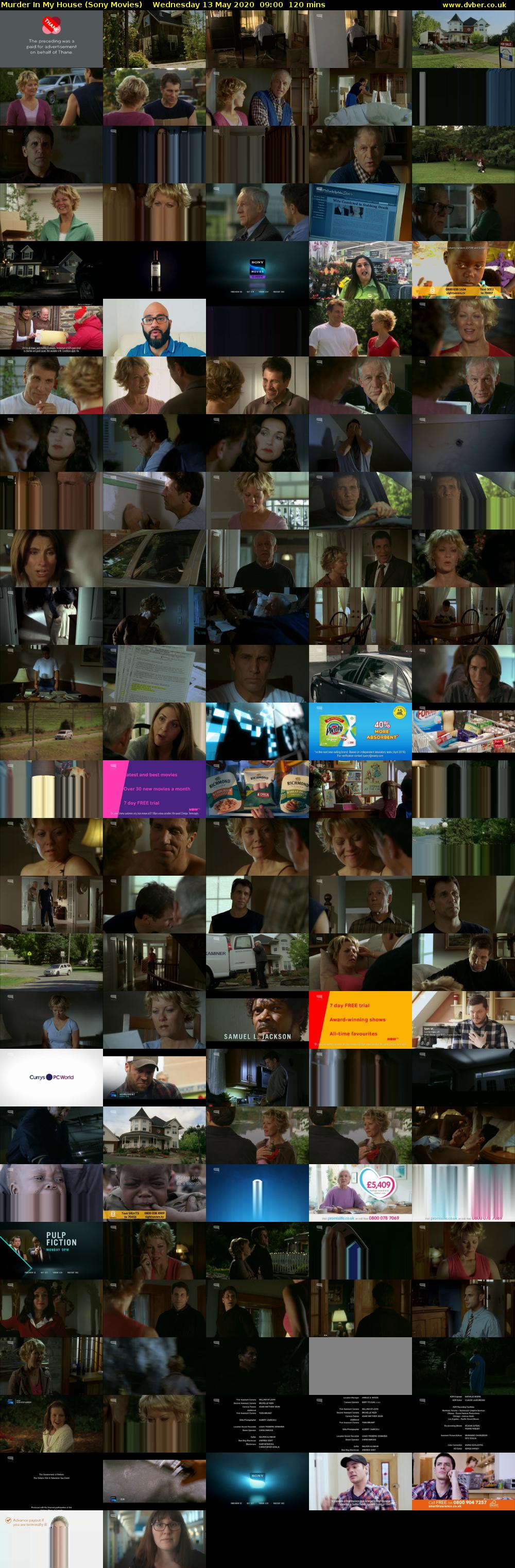 Murder In My House (Sony Movies) Wednesday 13 May 2020 09:00 - 11:00