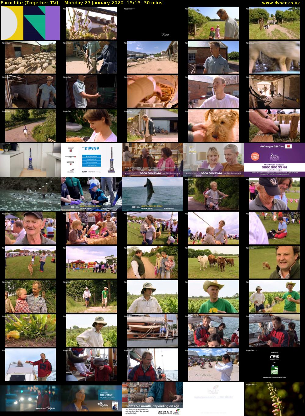 Farm Life (Together TV) Monday 27 January 2020 15:15 - 15:45