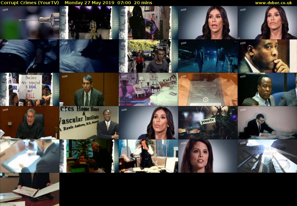 Corrupt Crimes (YourTV) Monday 27 May 2019 07:00 - 07:20