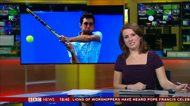 Female BBC sports news presenter gets tickly cough live on air|Oops moment live on air